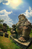 Męska postać Dwarapala statua fotografia royalty free