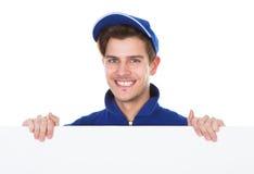 Męska pracownika cleaning podłoga Zdjęcie Stock