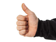 Męska ręka odizolowywająca Zdjęcie Stock