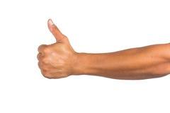 Męska ręka odizolowywająca na białym tle Fotografia Royalty Free