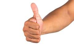 Męska ręka odizolowywająca na białym tle Obrazy Royalty Free
