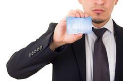 Męska ręka pokazuje kredytową kartę obrazy royalty free