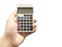 Męska ręka z kalkulatorem Zdjęcie Royalty Free