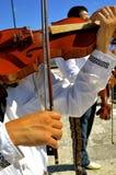 Męska skrzypaczka tworzy muzykę Fotografia Royalty Free
