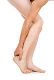 Męska stopa, pięta, cieki Zdjęcie Royalty Free