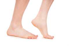 Męska stopa, pięta, cieki Zdjęcia Stock