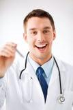 Męska uszatego nosa gardła lekarka Zdjęcia Stock