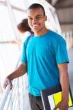 Męski afrykański student collegu Zdjęcie Stock
