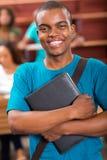 Męski afrykański student collegu Fotografia Stock