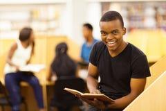 Męski afrykański uczeń Fotografia Royalty Free