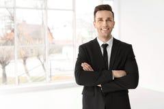 Męski agent nieruchomości Fotografia Stock