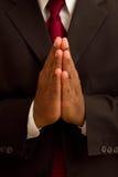męski Amerykanin afrykańskiego pochodzenia modlenie Fotografia Stock