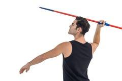 Męski atlety narządzanie rzucać dardę Obraz Stock