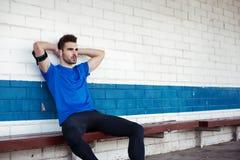 Męski atlety relaksować Obrazy Stock