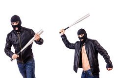 Męski bandyta odizolowywający na bielu Obrazy Stock
