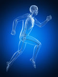 Męski biegacz ilustracja wektor