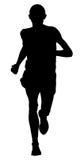 Męski biegacza lider ilustracji