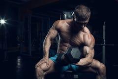 Męski bodybuilder, sprawność fizyczna model Obrazy Royalty Free