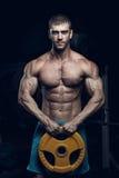 Męski bodybuilder, sprawność fizyczna model Obrazy Stock