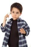 Męski dziecko kontroluje febrę Obraz Royalty Free