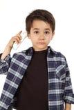 Męski dziecko kontroluje febrę Obrazy Royalty Free