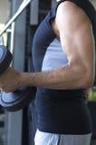 Męski gym sprawności fizycznej trening Fotografia Stock