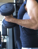 Męski gym sprawności fizycznej trening Zdjęcia Stock