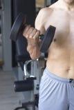 Męski gym sprawności fizycznej trening Obrazy Stock