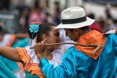 Męski i żeński tancerza zbliżenie Fotografia Royalty Free