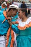 męski i żeński tancerza zbliżenie w Ekwador Obrazy Royalty Free