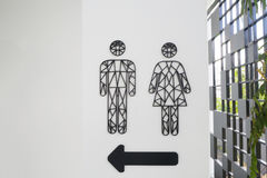 Męski i żeński toaleta znak z strzała znakiem Obraz Royalty Free