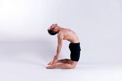 Męski joga model Obraz Royalty Free