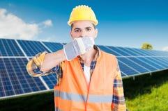Męski konstruktor w słonecznej staci Zdjęcie Stock