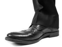 Męski kostium w czarnych będących ubranym butach Zdjęcie Stock
