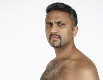 Męski mężczyzna portreta studia pochodzenie etniczne Obraz Royalty Free