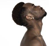 Męski mężczyzna portreta studia pochodzenie etniczne Zdjęcia Royalty Free