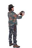 Męski myśliwy z trofeum Fotografia Stock