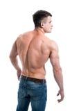 Męski plecy odizolowywający na białym tle Fotografia Stock