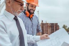 Męski praca budynku budowy inżynierii zajęcia projekt Obraz Royalty Free