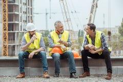 Męski praca budynku budowy inżynierii zajęcia projekt Fotografia Stock