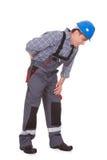 Męski pracownika cierpienie od obolałości obrazy stock