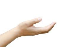 Męski ręczny up. fotografia stock