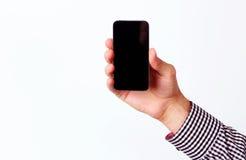 Męski ręki mienia smartphone Obrazy Royalty Free