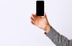 Męski ręki mienia smartphone Zdjęcie Royalty Free