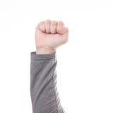 Męski ręki pięści znak isolted Zdjęcie Stock