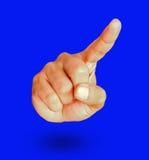 Męski ręki przedstawienia gest wskazuje coś Zdjęcia Stock