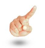 Męski ręki przedstawienia gest wskazuje coś Fotografia Royalty Free