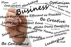 Męski ręki writing strategii biznesowej pojęcie Obraz Royalty Free