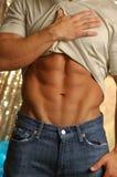 męski rozbieranie mięśni brzucha Zdjęcie Stock