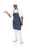 Męski szefa kuchni przedstawiać Obrazy Stock
